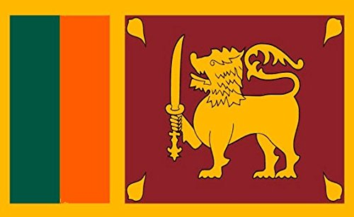 Sri Lanka Flag 3ft x 2ft Medium - 100% Polyester - Metal Eyelets - Double Stitched by Perfectflags