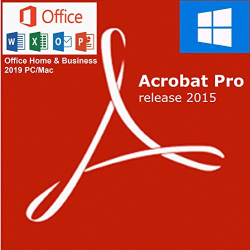 Office 2019 Home & Business, PC/Mac + Acrobat Pro 2015 PC o Mac [inmediatamente por E-Mail a través de Amazon Message Center]