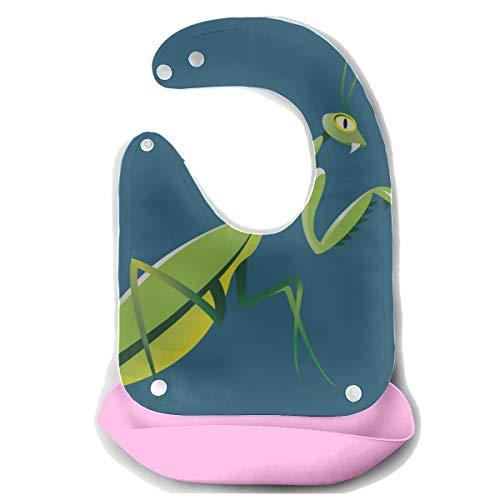 N\A Zahnen Lätzchen Eine verwundete kleine Gottesanbeterin Abnehmbare Silikon Fütterung Schürze Maus Handtuch Baby Fütterung Dribble Drool Lätzchen Infant Lätzchen Abdeckung