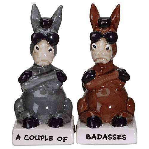 Pacific Giftware A Couple of Baddasses Ceramic Salt and Pepper Shakers Set