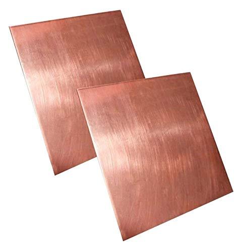 NIANXINN Placa de Cobre Pura Placa de Cobre Hoja de Cobre T2 Hoja de Metal Foil Foil Materiales industriales de enfriamiento 35 * 50 * 4mm Hoja de Cobre Puro