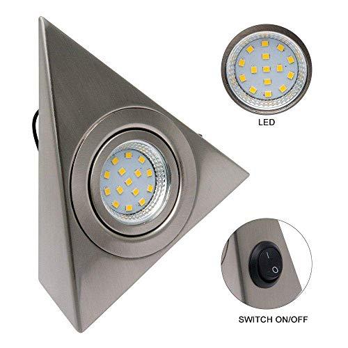 Luz Interior de RV - Riloer Luz LED de Techo para Techo DC 12V 9W Downlight para Autocaravana Caravana Cromo Barco Cálido Blanco-220V C Blanco 1P