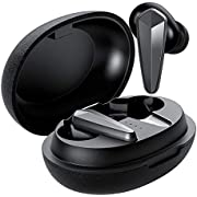 True Wireless Earbuds with Microphone, Jeecoo T03 Bluetooth 5.0 in-Ear Headphones, 30 Hours Playtime, Stereo Sound with Charging Case, Touch Control for Mobile Devices