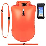 Boya de natación de 20 L con bolsa seca, ayuda para triatletas, Baywatch para flotabilidad gratuita, funda para teléfono móvil, salvavidas de seguridad para aguas abiertas, surfistas, snorkelers