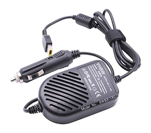 vhbw In-Car Charger compatible with Lenovo IdeaPad G500, G500s, G505, G505s, G510 Laptop, Notebook - Portable Charger 12V, 90W