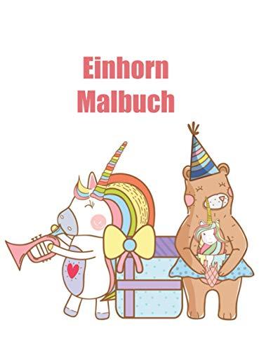 Einhorn Malbuch: Für Kinder im Alter von 4-8; Cool-Kollektion von Fun and Easy Einhorn, Einhorn-Freund und anderes süßes Baby-Tiere Malvorlagen für Kinder, Kleinkinder, Vorschul