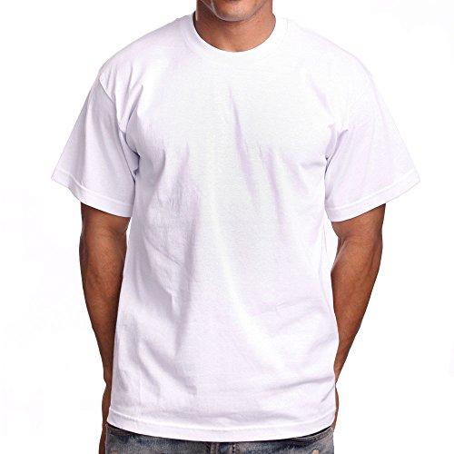 PRO 5 Super Heavy Mens T-Shirt, X-Large, White
