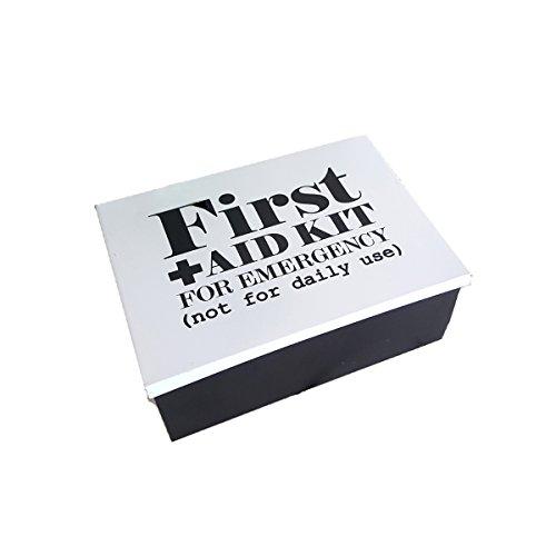 LB H&F Verbandskasten Erste Hilfe Box antik - First Aid - Metall - Medikamentenbox