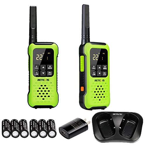 Retevis RT49P Waterproof Walkie Talkie Long Range, Floating Portable Two Way Radio, NOAA Weather Alert ,SOS,Flashlight, Rechargeable Walkie Talkies for Adults (2 Pack). Buy it now for 64.99