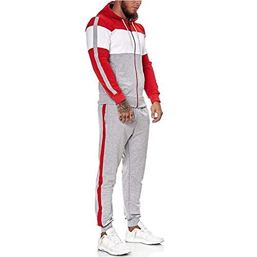 Trailrest Conjunto deportivo hombre invierno sudadera hombre capucha barata Cárdigan de Manga Larga con Capucha y pantalones elásticos con cordón para otoño invierno
