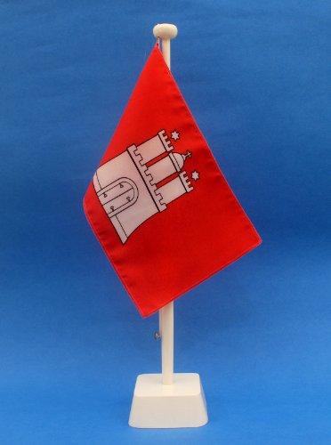 Buddel-Bini Hamburg 15x25 cm Tischflagge in Profiqualität, nur Tischfahne