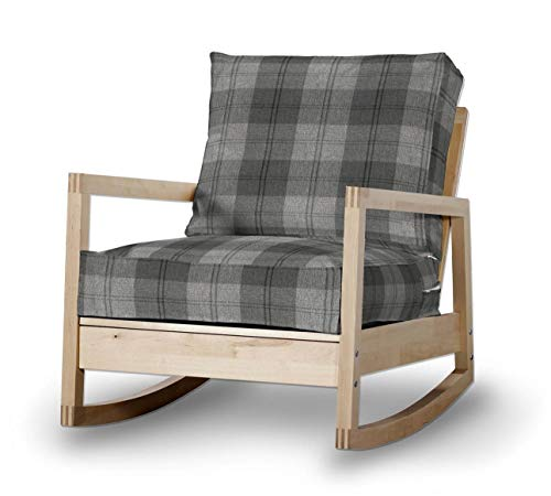 Dekoria Fire retarding IKEA LILLBERG sillón, diseño de tartán, Color Gris