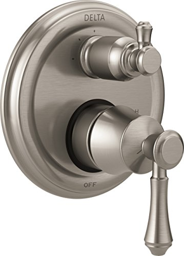 DELTA FAUCET T24897-SS, Stainless Cassidy Traditional Monitor 14 Series Valve Trim with 3-Setting Integrated Diverter