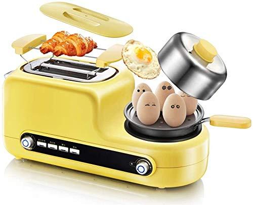 Máquina de desayuno multifuncional, Mini sartenes, Toastie Maker, horno de desayuno, vaporizador eléctrico, tostadora de tostadora de tostadora, acero inoxidable 304, máquina de desayuno a domicilio d