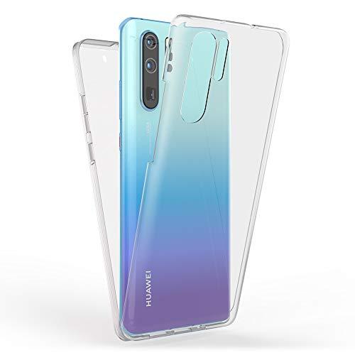 Kaliroo Handyhülle 360 Grad kompatibel mit Huawei P30 PRO, Full-Body Schutzhülle Hardcase hinten & Displayschutz vorne mit Silikon Bumper, Slim Full-Cover Case Komplett-Schutz Hülle - Transparent
