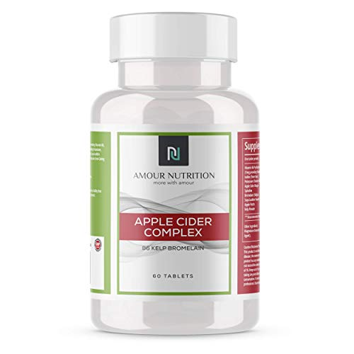 Apple Cider Vinegar Complex, with Spirulina, Pectin, Kelp & Bromelain, Vegetarian Tablets, UK Made