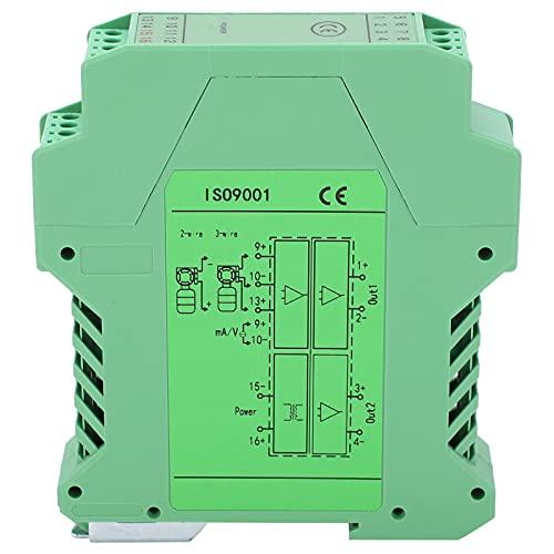 Signalisolator, DC 1 ingång 2 utgångsspänning sändare splitter skena montering balsam GLG
