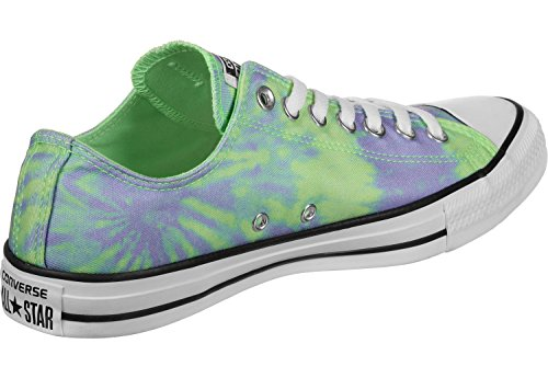 Converse Chuck Taylor All Star Ox - Tie-Dye Mens Fashion-Sneakers 160513C_10.5 - Illusion Green/Twilight Pulse/White
