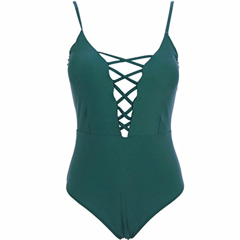 LZE-_レディース メッシュ スリム セクシー連体式 競泳水着 ビキニワンピース 6色水着 体型カバー レース ホルター ワンピース ビーチウェアビキニ 着痩せ 夏 プール温泉 海