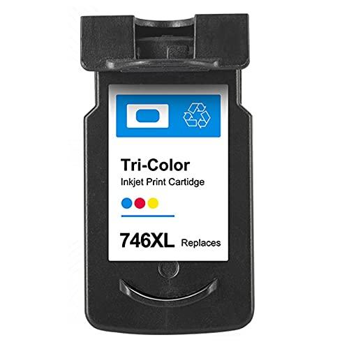 AZXC para el Cartucho de tóner Compatible con Canon 745XL 746XL, se Adapta a PIXMA IP2870 2870S MG2470 2570S 2970 3070 3077 MX497 Impresora con Chip Color