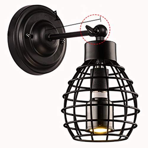 Rétro Industriel Réglable Angle Applique Applique Vintage Noir Lampe Applique E27 Loft Créatif Escalier Chambre Chevet Lampe À L'intérieur De Fer Métal Ajouré Design Lumière Mur Projecteur