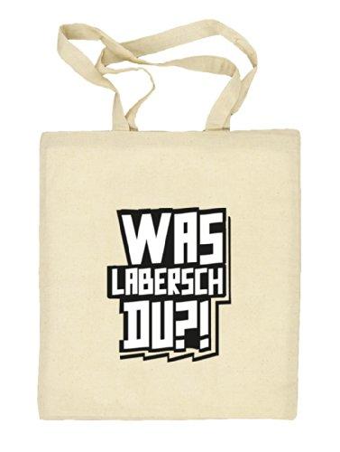 Shirtstreet24, WAS LABERSCH DU?! Natur Stoffbeutel Jute Tasche (ONE SIZE), Größe: onesize,natur