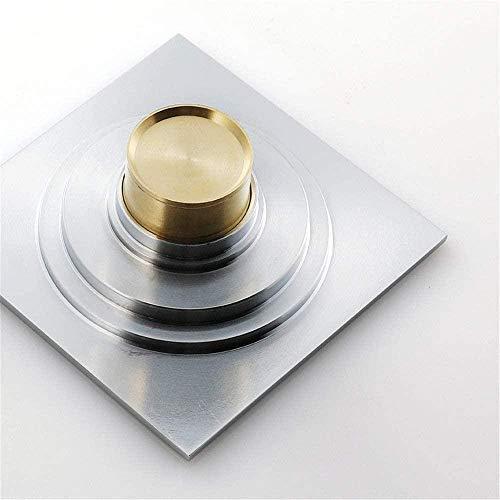 JWCN Desodorante de desagüe de piso de ducha Desodorante de drenaje de piso de baño de gran desplazamiento a prueba de insectos de cobre desagüe de piso 120 x 120 x 45 mm Uptodate