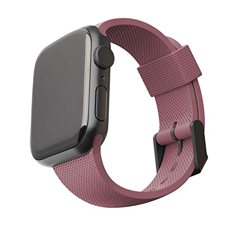[U] by UAG Compatible with Apple Watch 40mm 38mm Series 5/4/3/2/1 Dot Silicone Band Soft Stylish Pattern Sport Strap, Dusty Rose