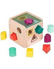 B. toys 木製型はめパズル 形合わせパズルボックス ブロック9個セット 木のおもちゃ 1歳半~ 正規品