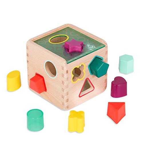 B. Toys by Battat BX1763Z Wonder Sorting Toy-Wooden Shape Sorter Activity...