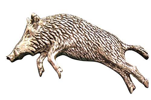 Brazil Lederwaren Ansteckpin Wildschwein im Trab   für den Hut oder das Revers   Perfekt zum Jagd-Outfit   Anstecker Pin Button