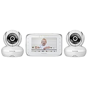 Motorola MBP38S-2 Digital Video Baby Monitor with 4.3-Inch Color LCD Screen and 2 Cameras with Remote Pan Tilt and Zoom
