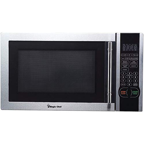 Magic Chef 1.1 Cu. Ft. Digital Microwave, Stainless Steel, Mcm1110st