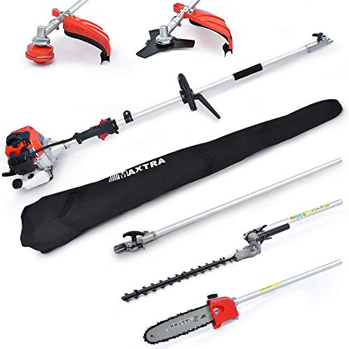 Best Price! MAXTRA 42.7cc 2-Cycle Multifunctional 4 in 1 Cordless Garden Tree Trimming Set 8.2 to 11...