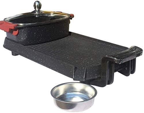 Parrilla eléctrica para el hogar, olla caliente, asador de barbacoa multifunción interior,...
