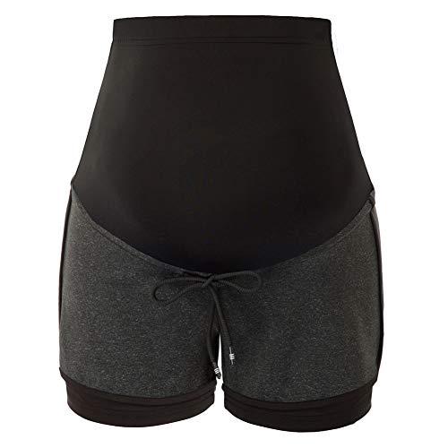 Maacie MCS02041 - Pantalones cortos de deporte para mujer, para yoga, correr, entrenamiento, entrenamiento Mcs02034(6#) L