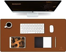 Knodel Desk Mat, Office Desk Pad, Waterproof Desk Mat for Desktop, Leather Desk Pad for Keyboard and Mouse, Desk Pad Protector for Office and Home (31.5