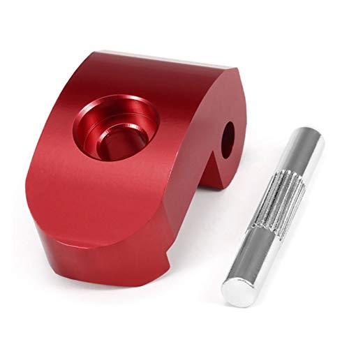 Cerradura plegable del gancho para la vespa, cerradura reforzada de la aleación de aluminio para X-iaomi M365 Pro hebilla titular con el Pin, rojo