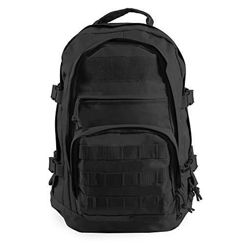 Highland Tactical Men's Basecamp Heavy Duty Tactical Backpack, BLACK, One Size