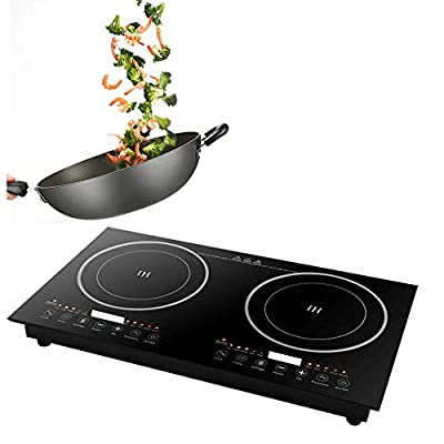 2400W Electric Double Induction Cooktop induction burner electric burner Digital Electric Countertop Burner Sensor Touch Stove