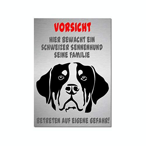 Generisch Großer Schweizer Sennenhund Hunde Warnschild A4 | Hundeschilder | 28WS | Schild | Türschild