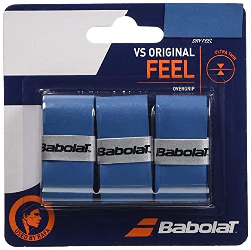 Babolat(バボラ) 硬式テニス バドミントン グリップテープ VS GRIP X3 (3本入り) BA653040 ブル-(509)