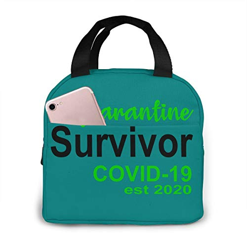antkondnm CORONAViRUS(Teal) Insulated Lunch Bag Cooler Tote Handbag Lunch Box Food Container Gourmet Tote Warm Pouch for School Work Office