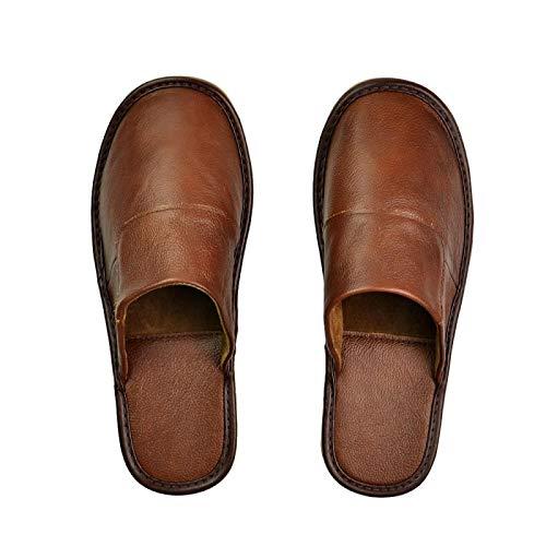 ZapatillascasaHombres Zapatillas Casa Calidad Dormitorio Hombres Zapatos Casuales Mujeres Hombres Zapatillas De Cuero