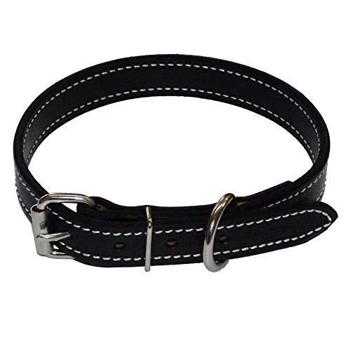 1 Inch Amish Made Leather Dog Collar (Medium 18'- 22') Redline K9