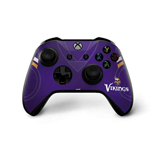 Skinit Decal Gaming Skin for Xbox One X Controller - Officially Licensed NFL Minnesota Vikings Team Jersey Design