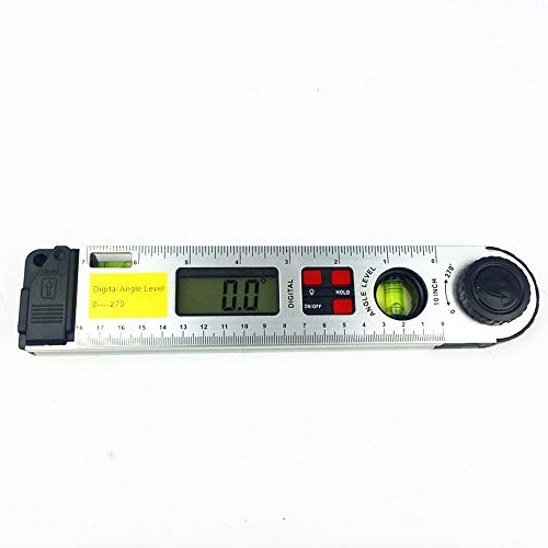 QWERTOUR 250mm digitaal engelniveau LCD-display digitale gradenboog met dubbele waterpas hoek zoeker meter hellingssensor