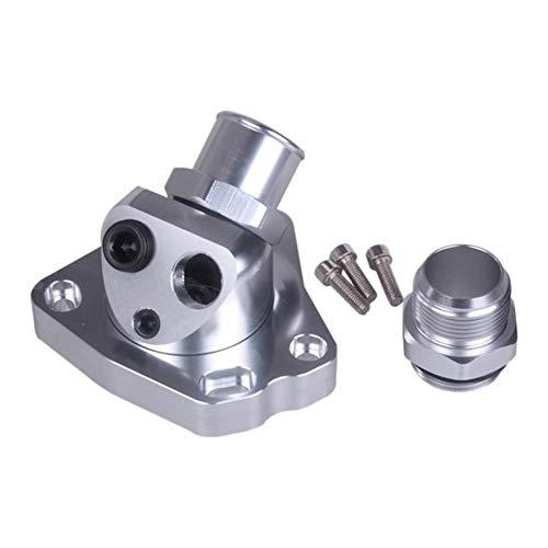 Daojun Giratoria Cuello Caja termostato en Forma for la Serie K K20 K24 Manguera de radiador de Intercambio K (Color : Silver)