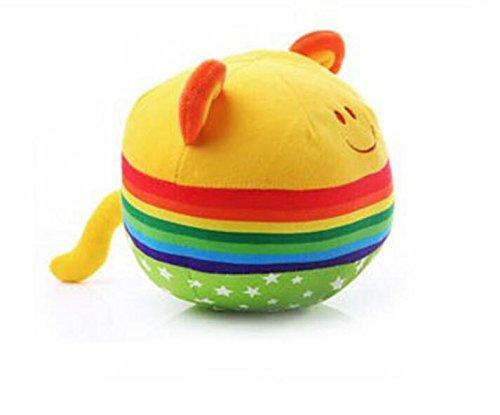 Süß und lustig Baby Adorable Rainbow Hand Fangen Ball Spielzeug Geschenk Infant Faszinierende Glocke Tuch Ball