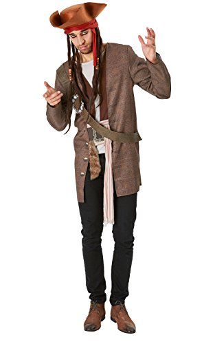 Rubie's Pirati Dei Caraibi Movie Costume Jack Sparrow per Adulti, Unica, IT820520-STD